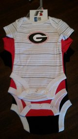 NEW GA Bulldog Onesies (3pk) in Warner Robins, Georgia