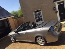 Saab convertible. 2.0 Petrol Turbo. Top of the range Aero model 210bhp in Lakenheath, UK