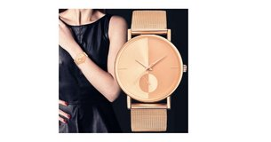 Fashionable Women's Mesh Watch Rose Gold in Wilmington, North Carolina