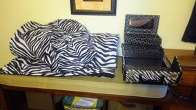 Zebra comforter with extras in Perry, Georgia