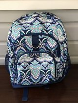 "Girls Pottery Barn Teen Backpack (Blue Paisley with ""N"" Initial) in Glendale Heights, Illinois"