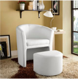 DIVULGE ARMCHAIR AND OTTOMAN IN WHITE in Spring, Texas
