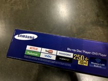 Brand New Samsung Blu-ray Player w/ Built-in Wi-Fi +250 free apps BD-JM57 in 29 Palms, California