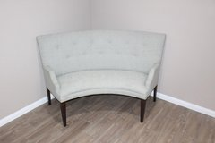 Soft green Curved sofa in EXCELLENT CONDITION in Spring, Texas