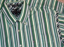Tommy Hilfiger 80s 2 Ply Fabric Long Sleeve Stripe Shirt w Pocket Large Mens in Morris, Illinois