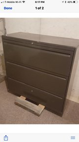 PPU Large, heavy metal filing cabinet with 3 drawers in Lockport, Illinois
