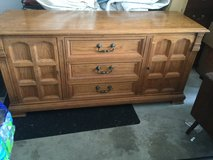 Beautiful vintage oak dresser from the 1960's guildhall collection by Drexel in Naperville, Illinois