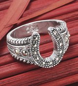 marcasite horsehoe ring - size 6 & 8 in Bellaire, Texas
