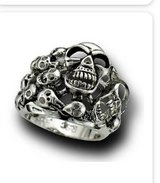 multi skull ring - size 10 11 & 12 in Bellaire, Texas