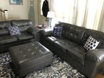 Ashley Durablend Leather Sofa, Loveseat, and Ottoman in Waldorf, Maryland
