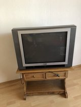 German TV (Not Flatscreen) with TV Stand in Ramstein, Germany