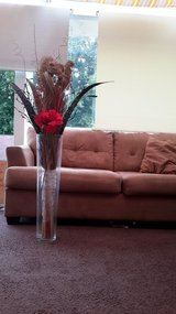 Big Glass Vase with Flower in Ramstein, Germany