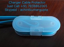 Cable Organizer Transparent White | Charger Cable Protector | Headphone Organizer in Dothan, Alabama