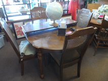 Dining Table, leaf & 4 chairs in Cherry Point, North Carolina