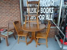 KITCHEN DROP LEAF TABLE WITH 3 CHAIRS in Cherry Point, North Carolina