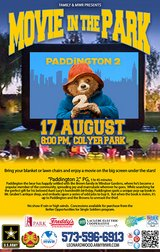 This Friday!  Movie in the Park in Fort Leonard Wood, Missouri