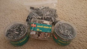 STAPLES OFFICE SUPPLIES LOT SMALL & MICRO BINDER CLIPS in Naperville, Illinois