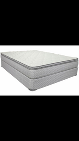 Queen size pillow top mattress box spring and frame in Fort Leonard Wood, Missouri