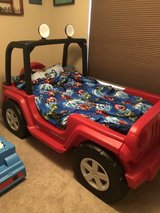Little Tikes Toddler/Twin Jeep Bed with Working Lights and Mattress in Fort Leonard Wood, Missouri