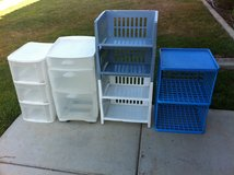 Plastic Drawers and Storage Shelves in Camp Pendleton, California