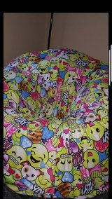 Brand New Inflattable Clear Chair with Emoji Cover in Travis AFB, California