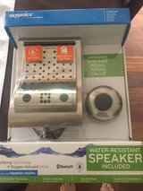 New Brushed Nickel Rain Shower Head with Bluetooth Speaker-Listen to Music & Answer Phone while ... in Naperville, Illinois