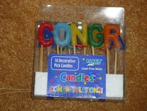 "NIB ""congratulation"" candles in Naperville, Illinois"