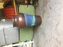 Tall hand thrown pottery vase in Ruidoso, New Mexico