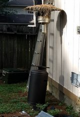 Tall Outdoor Heater Propane Garage Patio Heater Bronze Base Winter Fall Cold Heat in Kingwood, Texas