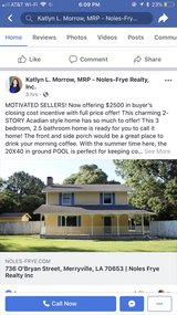 House w/ inground pool prices reduced offering $2500 closing cost incentive in DeRidder, Louisiana