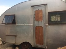 Mid-century Airstream trailer in Yucca Valley, California