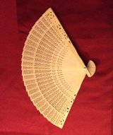 Folding pocket purse wood fan in Tinley Park, Illinois