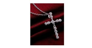 Beautiful Women's 925 Sterling Silver Cross Zircon Pendant in Wilmington, North Carolina