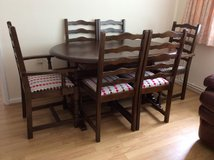 Solid wood Table And 6 Chairs in Lakenheath, UK