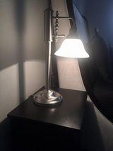 "22"" Heavy High Quality Metal Lamp w Glass Shade/REDUCED PRICE in Kingwood, Texas"