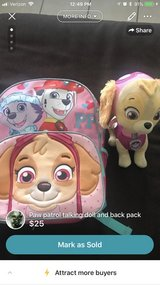 paw patrol back back and talking dog in Fort Bliss, Texas
