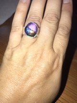 handmade sterling silver dysphoric glass ring in Sugar Grove, Illinois