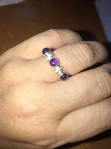 unique sterling silver amethyst ring size 7.5 in Sugar Grove, Illinois