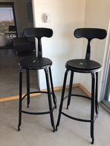 Metal stools in Yucca Valley, California