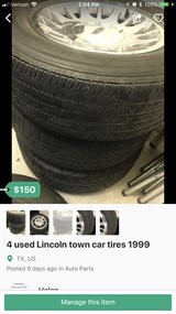 4 tires Lincoln town car 1999 in Fort Bliss, Texas
