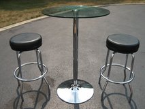 Pub Pedestal Table & Stools in Naperville, Illinois