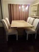 Dining room set -table, china cabinet and 6 fabric chairs in Algonquin, Illinois