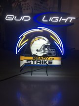 Chargers- Bud Light Neon Sign in Oceanside, California