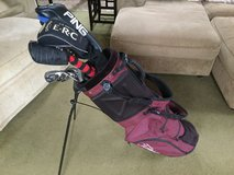 Golf bag with callaway fusion clubs and various woods in Okinawa, Japan