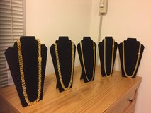 Gold Plated Cuban link chains in Okinawa, Japan