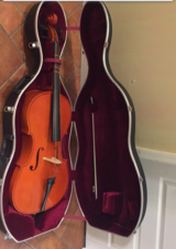 3/4 Cello w/bow and Hard Case in Camp Lejeune, North Carolina