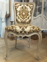 Set of 6 Vintage French Dining Chairs Shabby Chic hand finished in Ramstein, Germany
