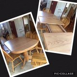 kitchen table with 2 leaves + 6 chairs in Joliet, Illinois