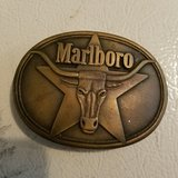 Marlboro belt buckle in Fort Knox, Kentucky
