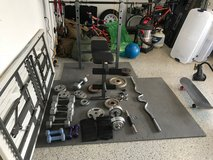 Exercise equipment w/various weights in Cherry Point, North Carolina